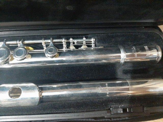 Flauta Transversal Yamaha YFL311 Japonesa - Foto 5