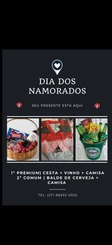 PROMOÇÃO camisa do Flamengo + cesta do dia dos namorados