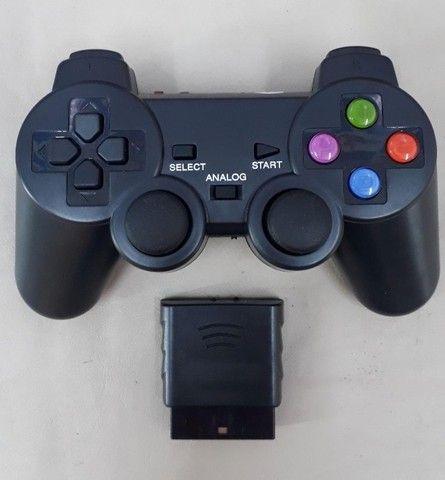 Controle PS2 NS-2020 duploshock ? Entrega Gratis  - Foto 2