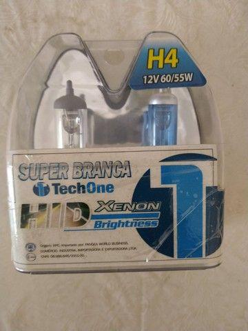 Lâmpadas H4 de LED e HID super Branca  - Foto 5