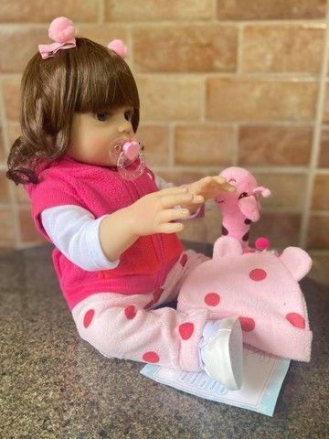Linda Boneca bebê Reborn toda em Silicone Realista 48cm Nova Original (aceito cartão  - Foto 3