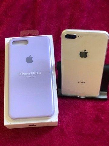 Iphone 8 plus Desbloqueado 64gb Silver - Troco em Iphones superiores - Foto 3