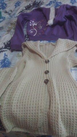 Lotinho de blusas de frio femeninas  - Foto 5