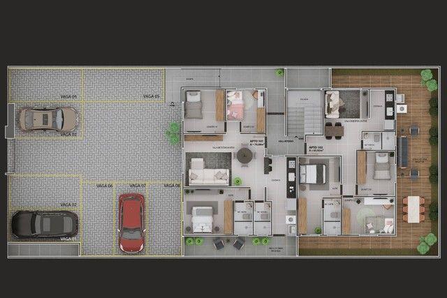 Vendo apartamento com solarium privativo em jaguaribe  - Foto 10