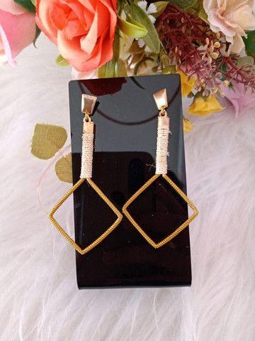 Brincos de capim dourado - Foto 3