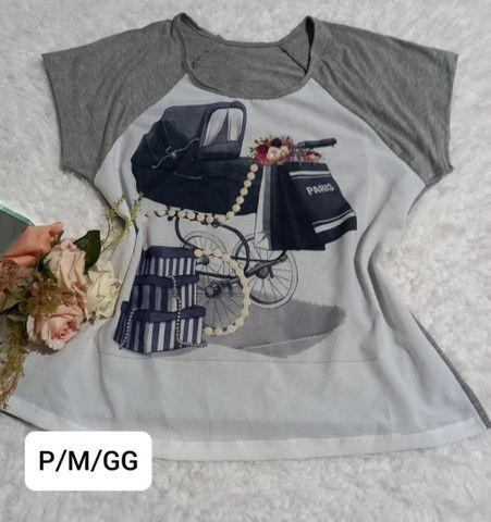 Tshirt com pedraria - Foto 3