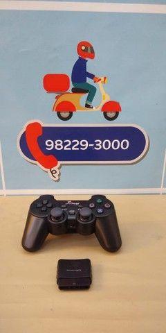 Controle PS2 NS-2020 duploshock ? Entrega Gratis  - Foto 3