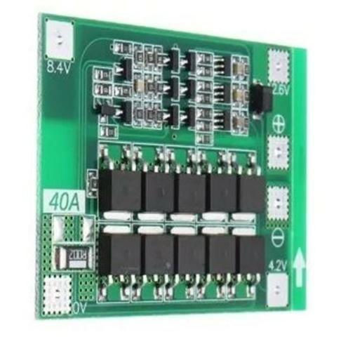 COD-AM202 Modulo Bms 4s 40a Para Para Baterias 18650 Lition 3 7v Arduino  Automação Rob