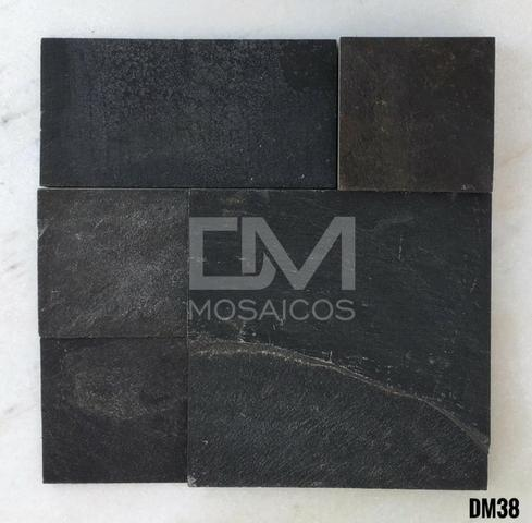 Mosaicos Pedra Ferro Preta - Foto 5