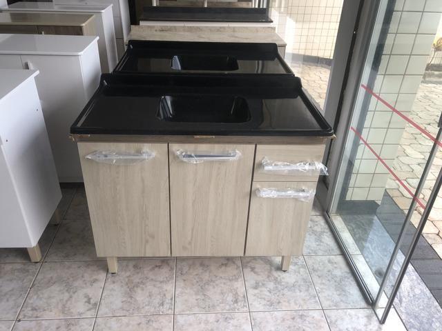 Pia de Cozinha 1metro com cuba - Entregamos - Foto 2