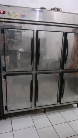 Geladeira inox 6 portas