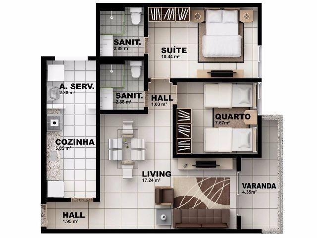 Apartamento novo. Melhor custo benefício da cidade - Foto 12