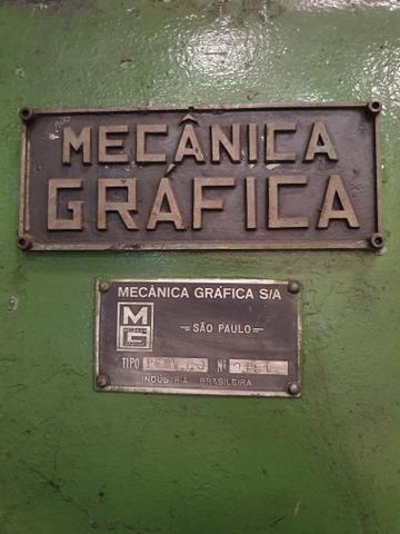 Prensa 85 Ton marca mecânica Gráfica. - Foto 3