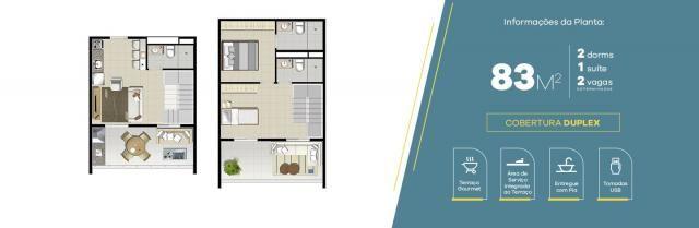 Apartamento no Jardim Vila Galvão, com 2 quartos, sendo 1 suíte e área útil de 55 m²
