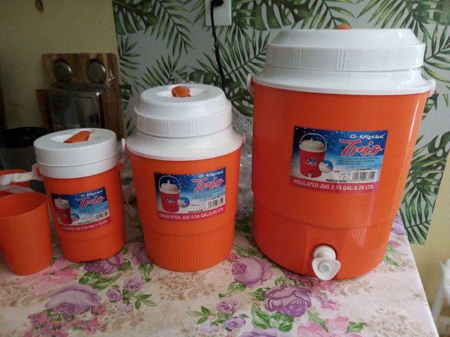 Kit garrafa térmica, produto novo - Foto 2