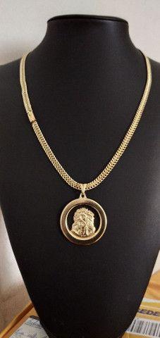Correntes de fino acabamento banhadas a ouro 18k idêntico a ouro maciço - Foto 2