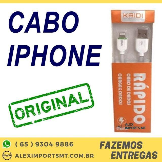 Cabo Usb Kaidi Apple iPhone 5 5s 6 6s 8 8 Plus X Xr Carregador
