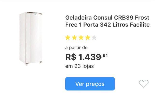 Geladeira Consul CRB39 Frost Free 1 Porta 342 Litros Facilite. TROCO EM AR CONDICIONADO. - Foto 6