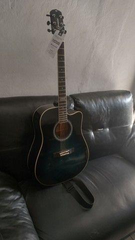 Vendo violão Giannini eletroacústico - Foto 2
