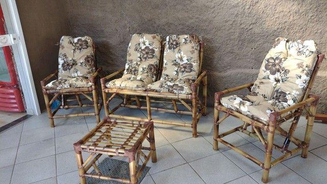 Jogos completos cadeiras de bambu 1 linha  - Foto 4