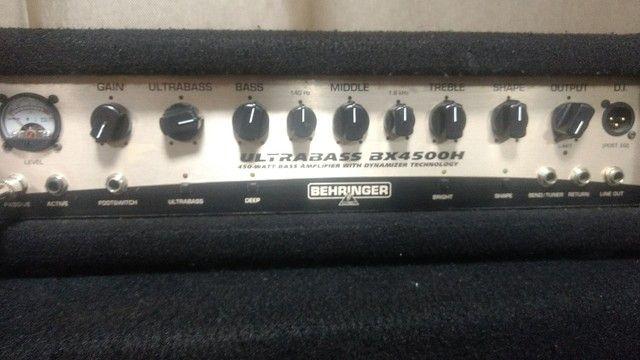 Estúdio de ensaio completo bateria amplificador cx ativa microfone    - Foto 6