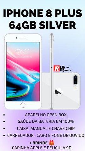 Iphone 8 plus Desbloqueado 64gb Silver - Troco em Iphones superiores - Foto 5