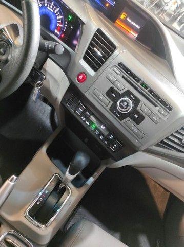 Civic Lxr 2.0 Flexone 2014 Automático , bancos em couro , completo  - Foto 8