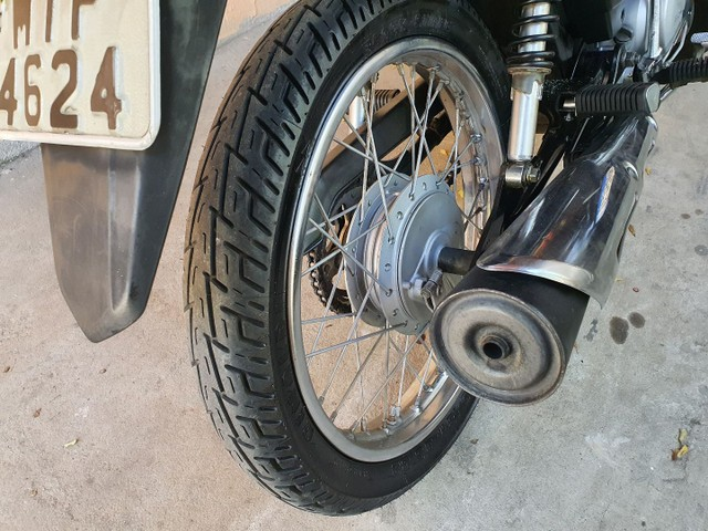 Rodas de ferro Fan 125 tambor ( Com pneus Novos ). - Foto 3