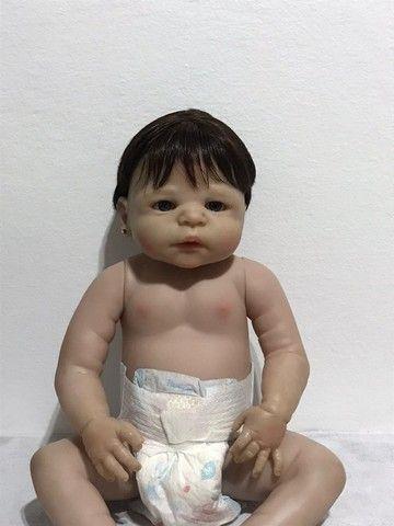 Boneca Bebê Reborn - seminova - Foto 2