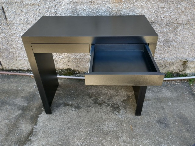 Mesa/escrivaninha / escritório/ com gavetas preta / novo MDF - Foto 2