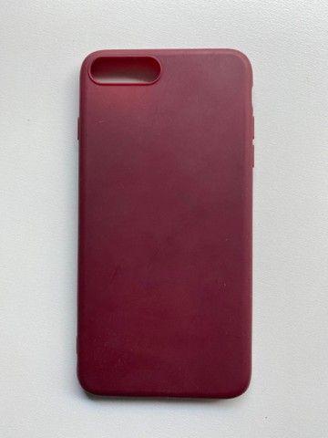 Capinha Iphone 7 Plus Bordo