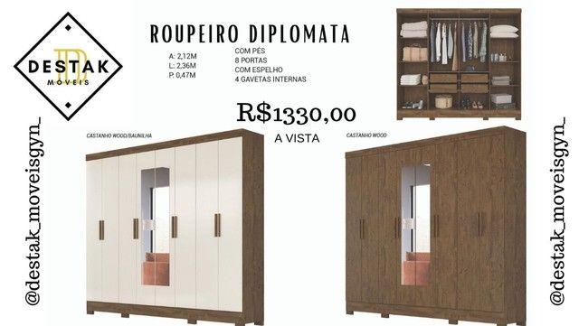 Guarda roupa de casal 8 portas - diplomata - Destak moveis
