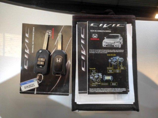 Civic Lxr 2.0 Flexone 2014 Automático , bancos em couro , completo  - Foto 11