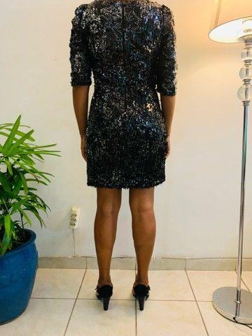 Vestido paetê curto preto P/M  - Foto 6