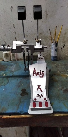pedal de bateria duplo Axis proficional em aluminium naval - Foto 3