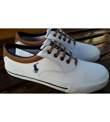 0ad3bb3a25 Sapatenis Sapato Tenis Polo Ralph Lauren couro casual dia a dia trabalho -  Foto 3