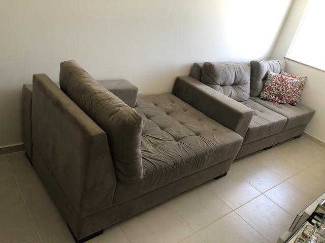 Sofá 3 lugares com chaise - Decore - Foto 4