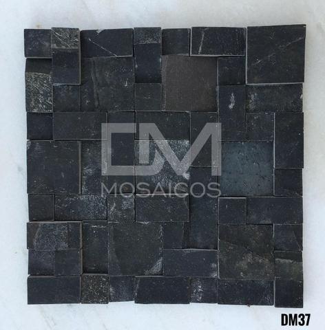 Mosaicos Pedra Ferro Preta - Foto 4