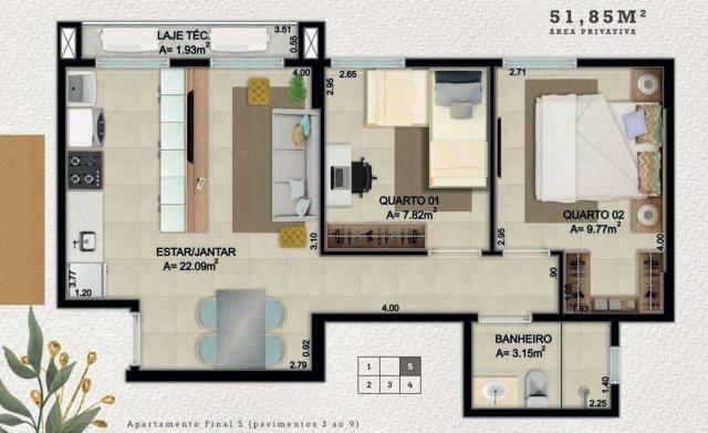 Lançamento apartamento 2 quartos guara II - Foto 3