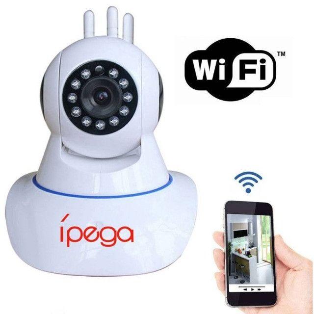 Câmera IP Wifi 3 Antenas UltraHD 1080p - Filma e grava no escuro total - Foto 3