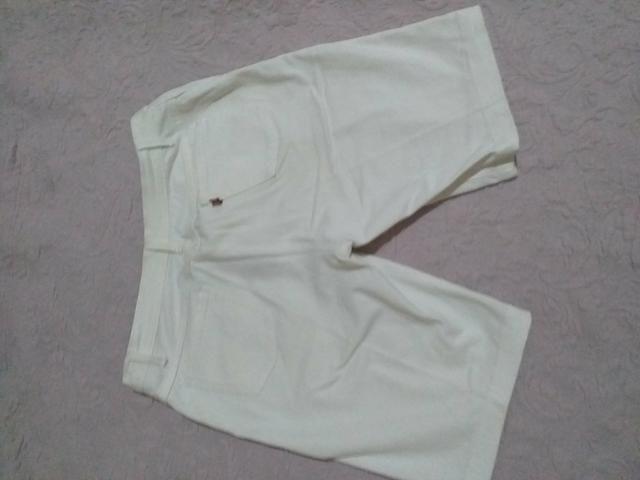 Short branco feminino Tam 40 - Foto 2