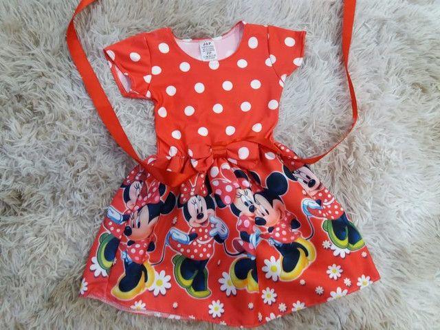 Vestido da Minnie Vermelha  e Minnie Rosa