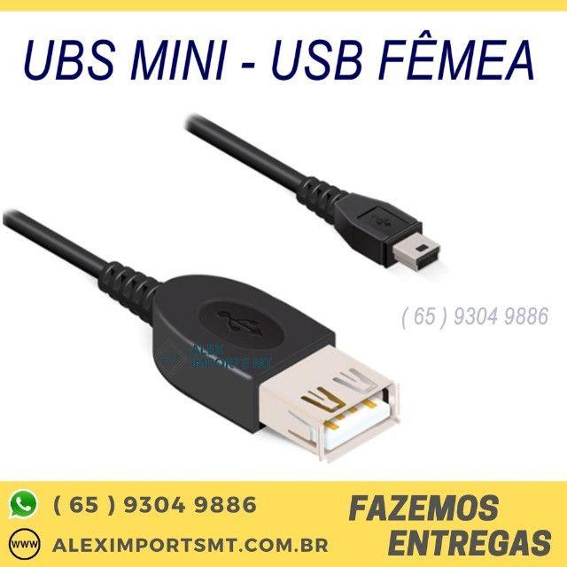 Transforma conexão mini Usb do seu dispositivo conexão Usb fêmea