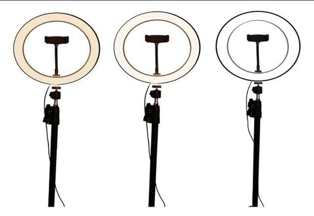 Ring Light completo, tripe 2mt, aro 20cm, Suporte Cel + Brinde - Foto 5