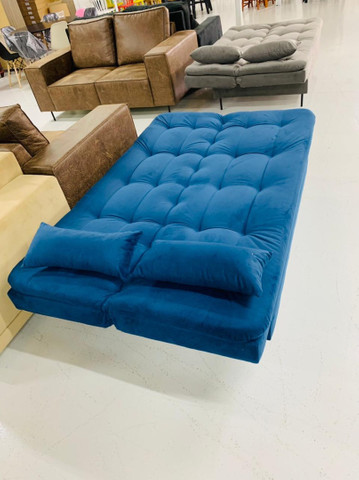 Sofá cama Flip azul, entrega imediata ? - Foto 2