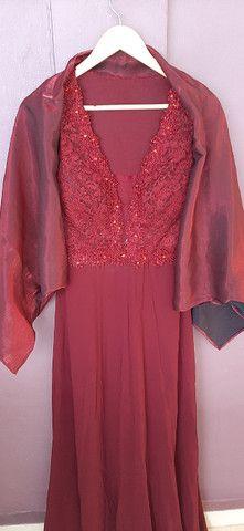 Vestido de festa G marsala - Foto 4