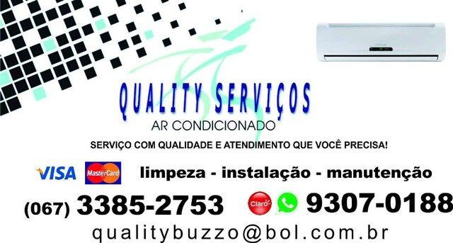 Empresa Quality Serviços-Instalação e manutenção de ar condicionado