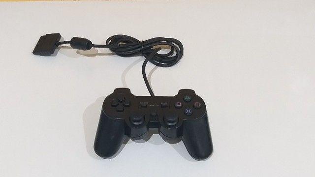 Controle Joystick Manete Playstation PS2 Com Fio - Foto 5