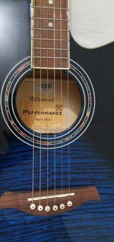 Violão Folk Eletroacústico Gianinni Performance GF-1R-CEQ - Foto 4