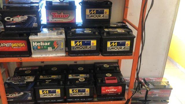 Baterias semi novas 60ah com 90 dias de garantia - Foto 2